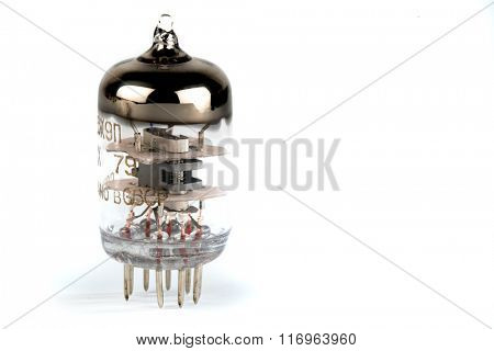 radio bulb isolated on white