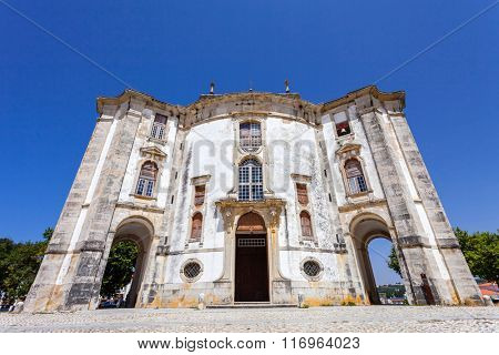 Obidos, Portugal - August, 2015: Church of the Senhor do Jesus da Pedra Sanctuary. 18th century Baroque architecture.