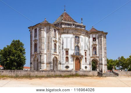 Obidos, Portuga. Church of the Senhor do Jesus da Pedra Sanctuary. 18th century Baroque architecture.