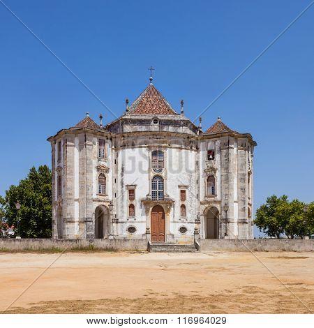 Obidos, Portugal. Church of the Senhor do Jesus da Pedra Sanctuary. 18th century Baroque architecture.