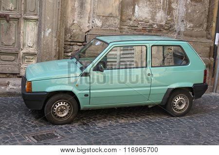 Light Green Fiat Panda Car