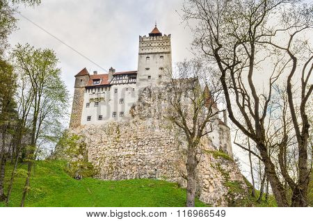 View At Bran Castle, Romania