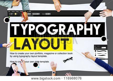 Typography Layout Ideas Creativity Design Element Concept