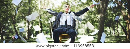 Carefree Relaxation Successful Achievement Cheerful Concept