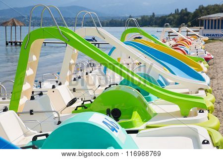 Aligned Pedal Boats