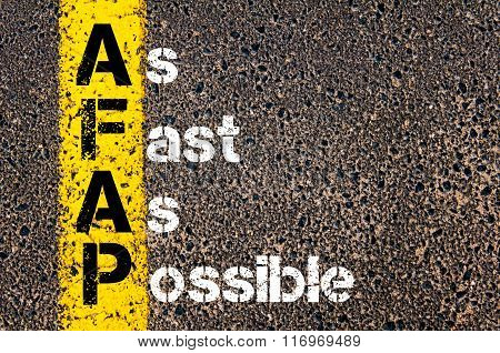 Business Acronym Afap As Fast As Possible