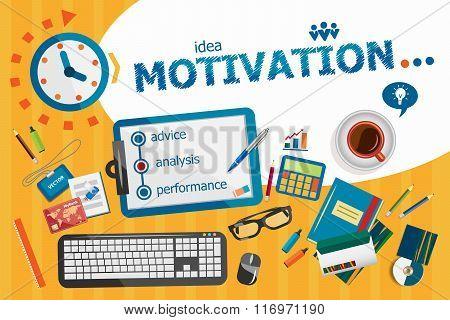 Motivation Design Concept. Typographic Poster.