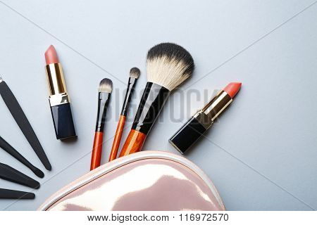 Set of cosmetics, closeup