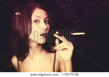 Woman With Cigarettel