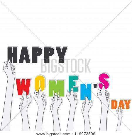 happy womens day banner design