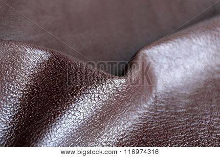 Brown wrinkled leather texture background