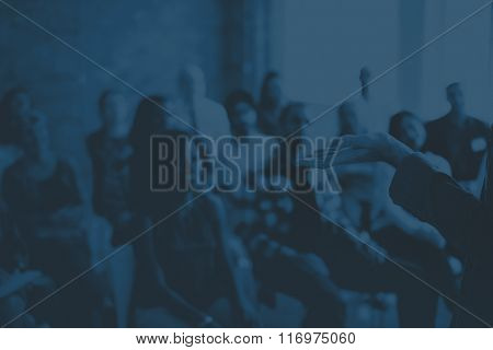 Audience Brainstorming Colleagues Company Office Concept