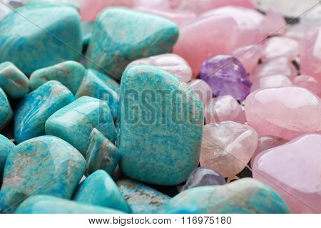Mineral stones background
