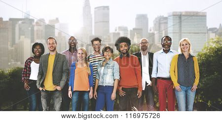 Colleagues Cooperation Ethnic Diverse Partnership Concept