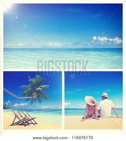 Honeymoon Couple Romantic Summer Beach Concept