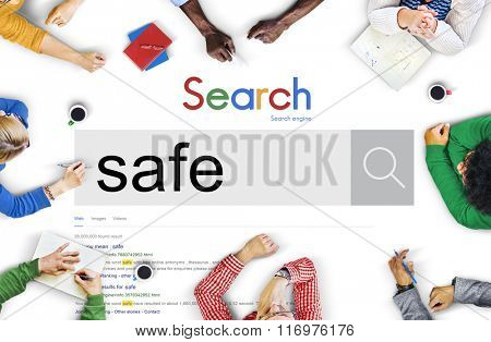 Safety Protection Security Shield Risk Management Concept