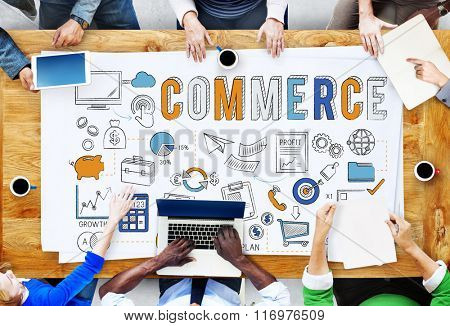 Commerce Business Marketing Strategy Finance Concept