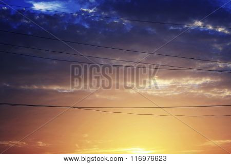 Sky View Beauty In Nature Dusk Concept