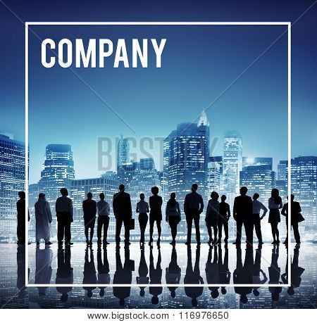 Company Management Organization Structure Teamwork Concept