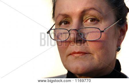 Stern Female Executive.