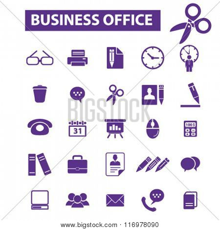 business, home, office, supplies, icons, signs vector concept set for infographics, mobile, website, application