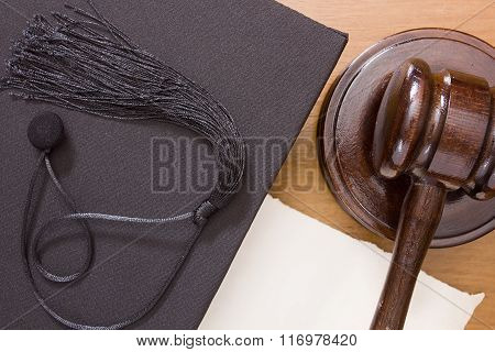 Hammer Mallet And Academic Cap