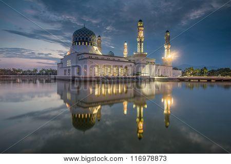 Masjid Kota Kinabalu, Bandaraya, Likas Mosque, Borneo, Sabah, Malaysia