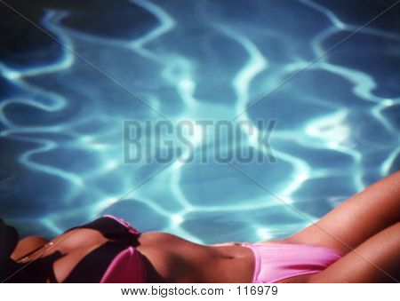 Woman By Pool