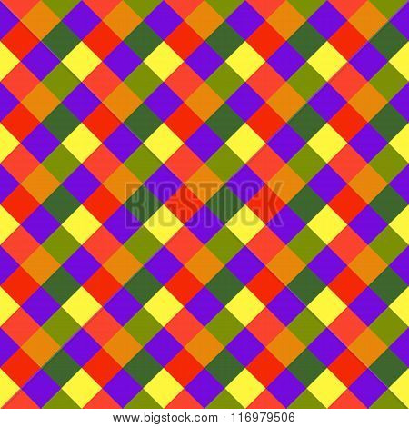 Seamless geometric pattern. Diagonal, square, woven line background. Patchwork, rhombus, checked tex