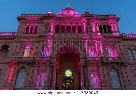 The Casa Rosada (the Pink House)