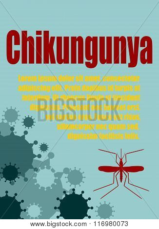 Vector Brochure, Report Or Flyer Design Template. Chikungunya Virus