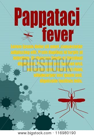 Vector Brochure, Report Or Flyer Design Template. Pappataci Fever Relative