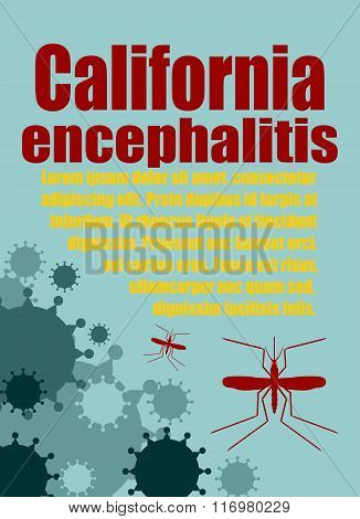 Vector Brochure, Report Or Flyer Design Template. California Encephalitis Relative