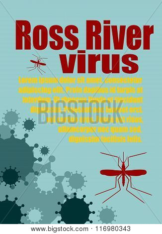 Vector Brochure, Report Or Flyer Design Template. Ross River Virus