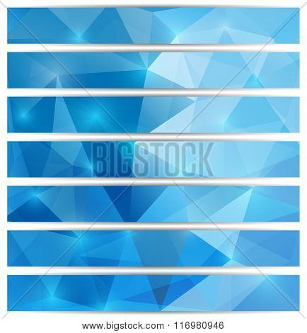 Set Of Triangular Banners