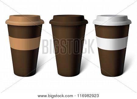 Mockup Brown Coffee Cup