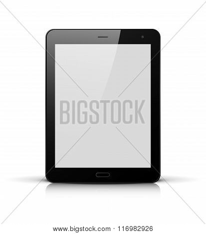 Black Tablet Pc With White Screen