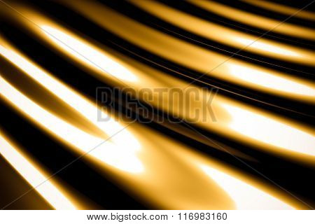 Abstract Gold Background Luxury Cloth Or Liquid Gold