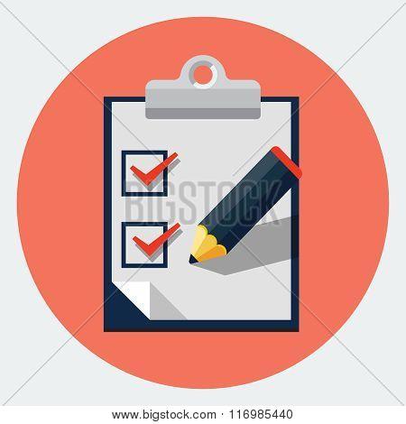 Vector checklist flat icon