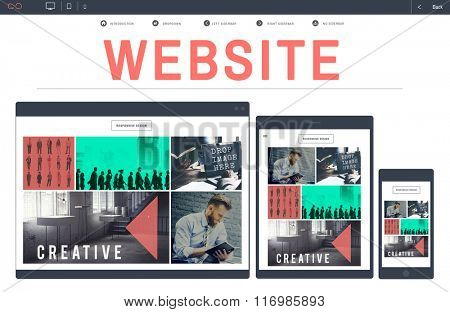 Website Web Design WWW Homepage Digital Device Concept