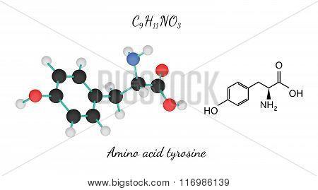 C9H11NO3 amino acid Tyrosine molecule