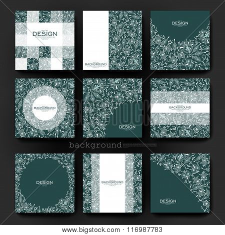 floral ornament vector brochure template. Flyer Layout