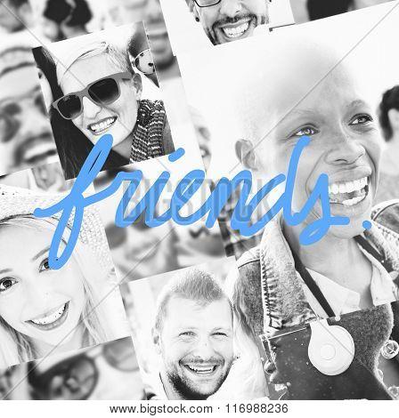 Diversity Friends Friendship Smiling Community Concept
