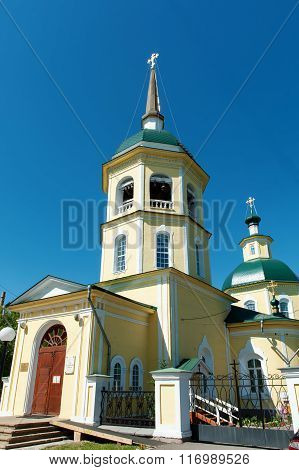 Transfiguration Church In The City Of Irkutsk