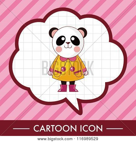 Animal Panda Winter Cartoon Theme Elements