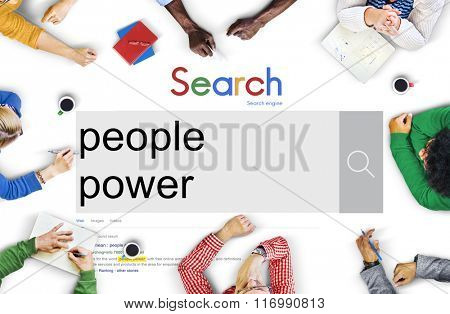 People Power Humanity Society Community Group Concept