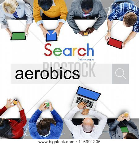 Aerobics Exercise Fitness Workout Concept