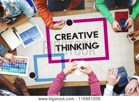 Creative Thinking ideas Imagination Innovation Inspiration Concept