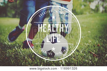 Healthy Life Living Nutrition Active Exercise Concept