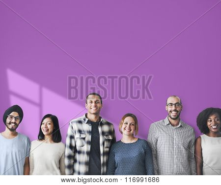 Diverse People Happiness Friendship Copy Space Concept
